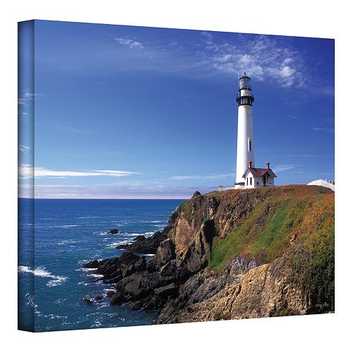 24'' x 36'' ''Pigeon Point Lighthouse'' Canvas Wall Art by Kathy Yates