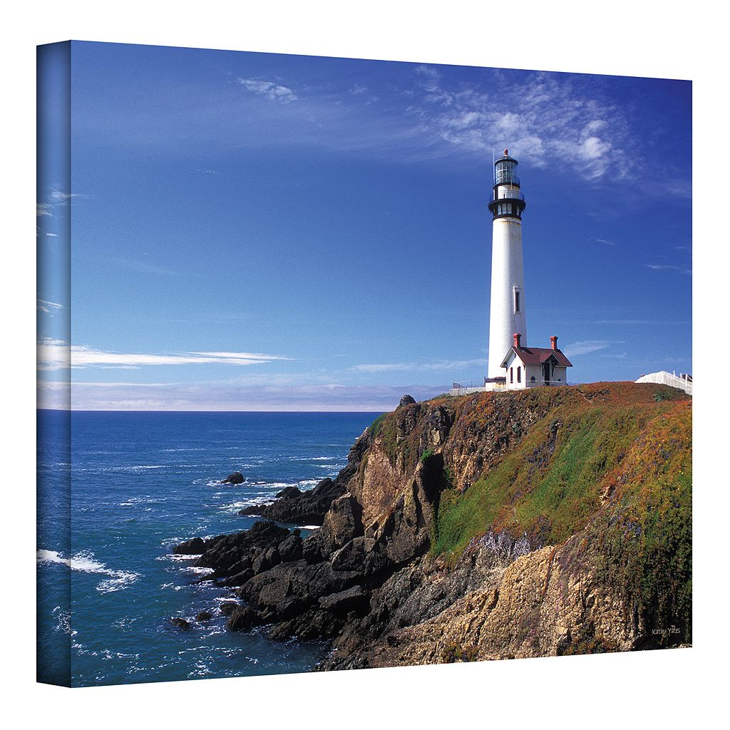 32'' x 48'' ''Pigeon Point Lighthouse'' Canvas Wall Art by Kathy Yates