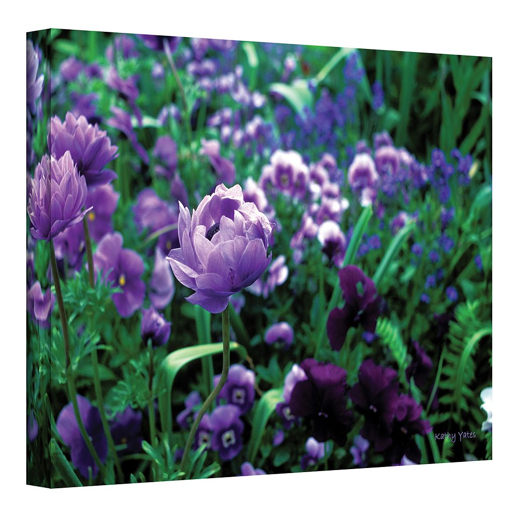 12'' x 18'' ''Poppies in Monet's Garden'' Canvas Wall Art by Kathy Yates