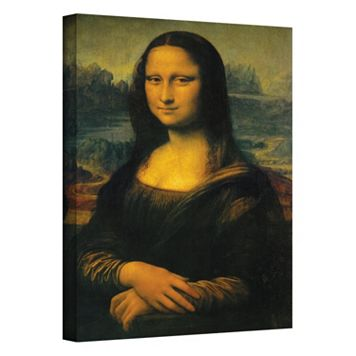 14'' x 18'' ''Mona Lisa'' Canvas Wall Art by Leonardo Da Vinci