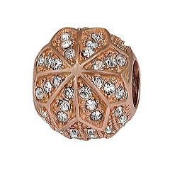 Individuality Beads 14k Rose Gold Over Silver Crystal Flower Spacer Bead