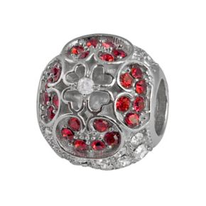 Individuality Beads Sterling Silver Crystal Clover Spacer Bead