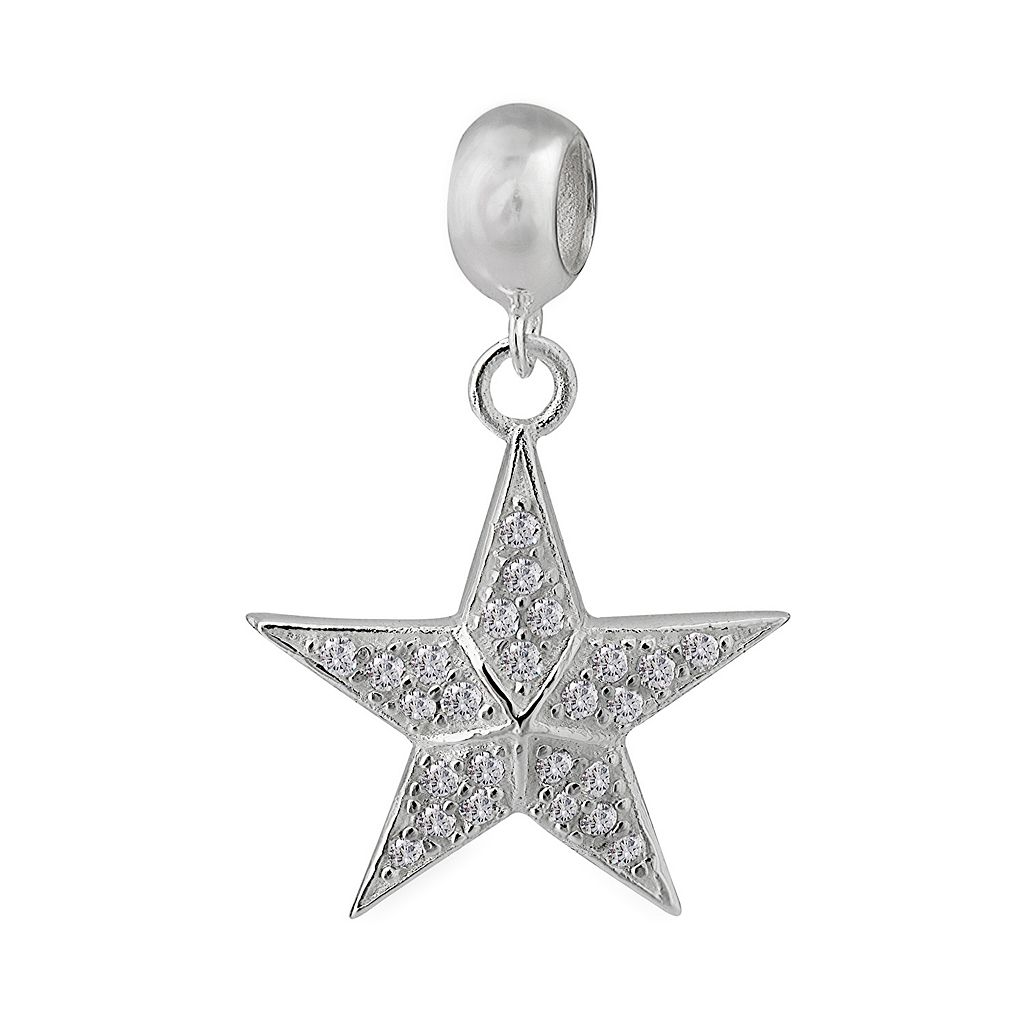 Individuality Beads Sterling Silver Cubic Zirconia Star Charm
