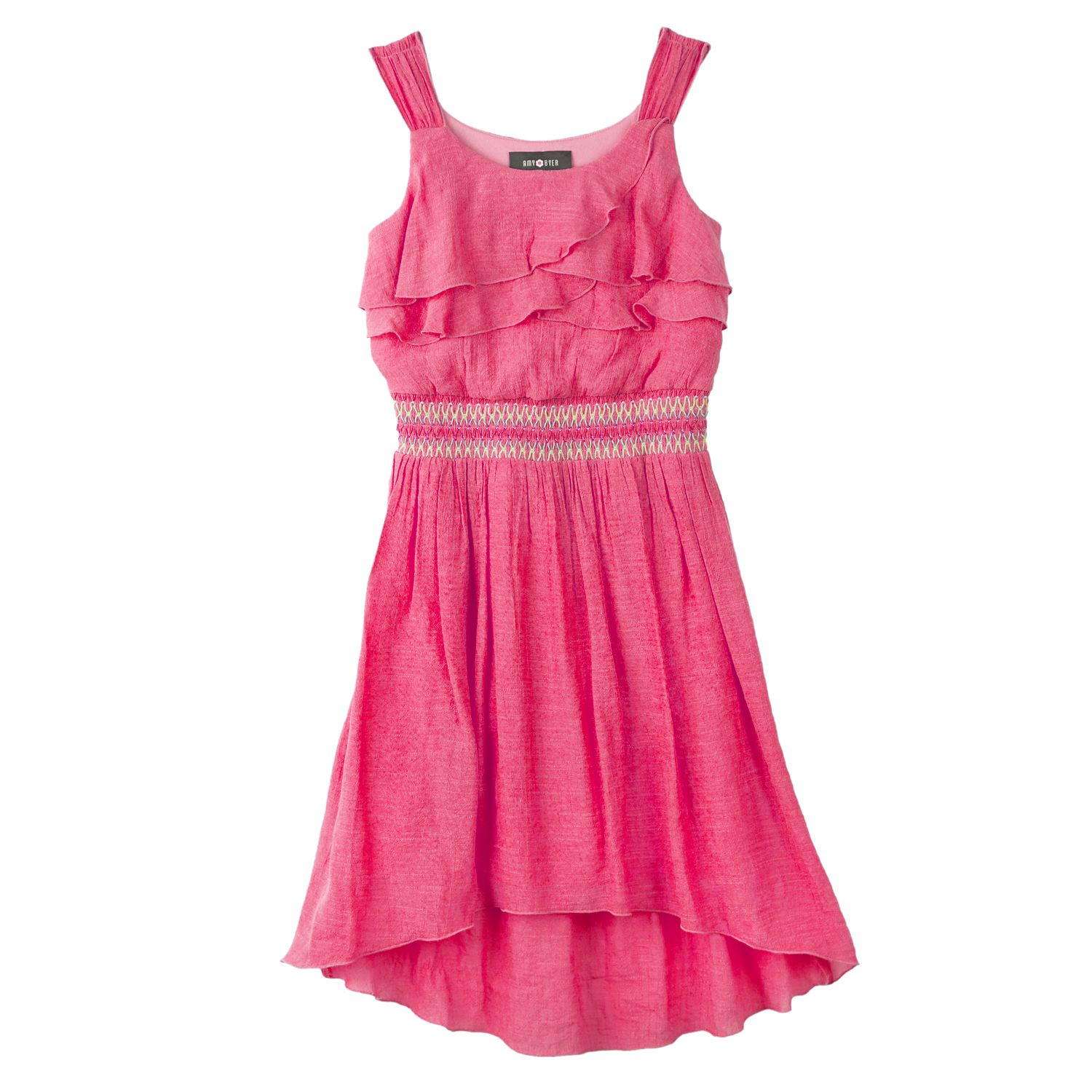 ce752f5c312dd3 CUSTOMER REVIEW IZ Amy Byer Ruffled Hi-Low Dress - Girls 7-16 ...