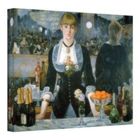 18 x 24 Folies Bergere Canvas Wall Art by Manet