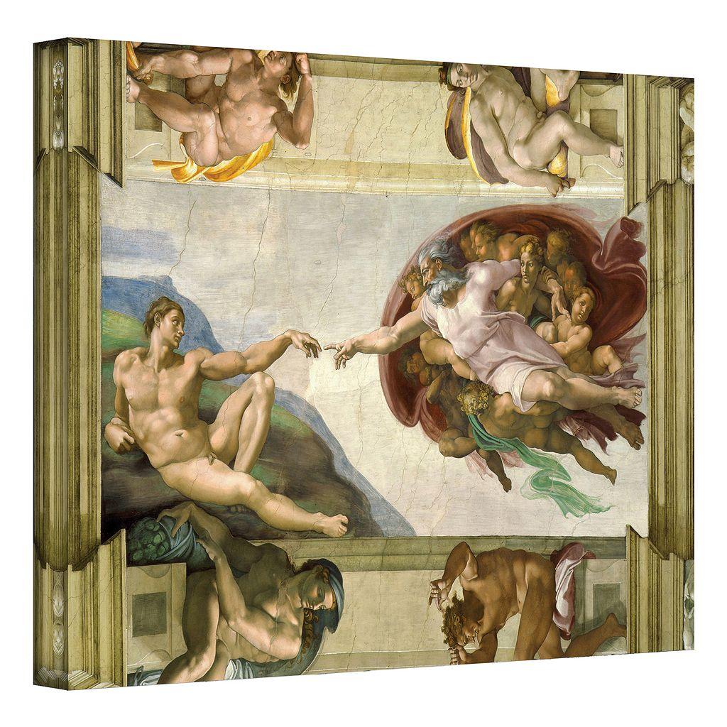 18'' x 24'' ''Creation of Adam'' Canvas Wall Art by Michelangelo