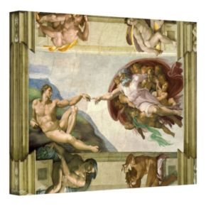 18 x 24 Creation of Adam Canvas Wall Art by Michelangelo