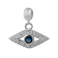 Individuality Beads Sterling Silver Cubic Zirconia Evil Eye Charm