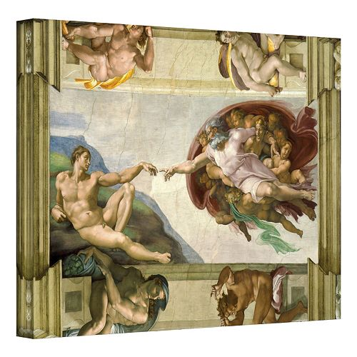 24'' x 32'' ''Creation of Adam'' Canvas Wall Art by Michelangelo