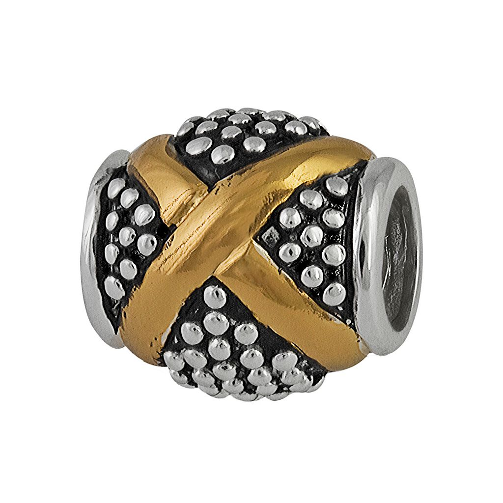 Individuality Beads 14k Gold Over Silver & Sterling Silver X Spacer Bead