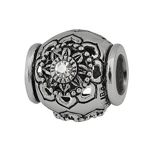 Individuality Beads Sterling Silver Crystal Flower Spacer Bead