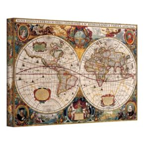 32 x 48 Hydrographica Map Antique Canvas Wall Art
