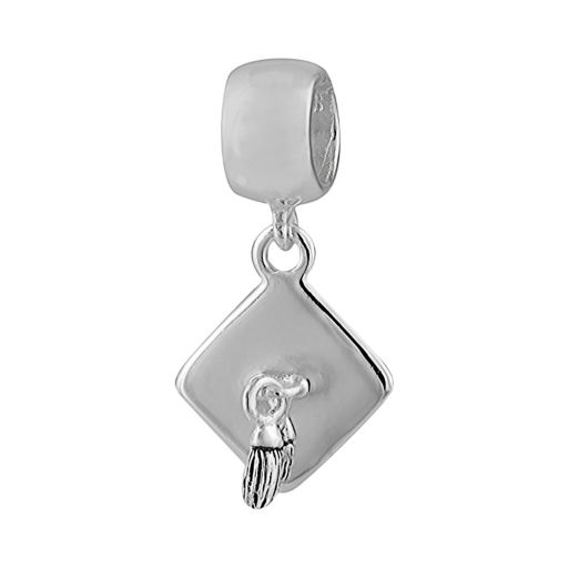 Individuality Beads Sterling Silver Graduation Charm