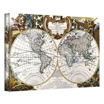 32'' x 48'' ''Antique World Map Circa 1499'' Canvas Wall Art