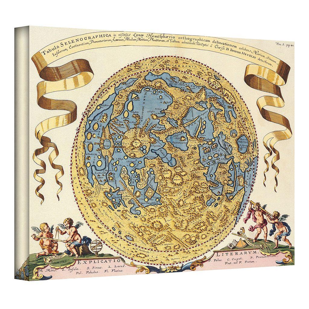 18'' x 22'' ''Tabula Selenographica Antique Map'' Canvas Wall Art