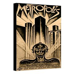 18'' x 14'' ''Metropolis'' Movie Poster Canvas Wall Art