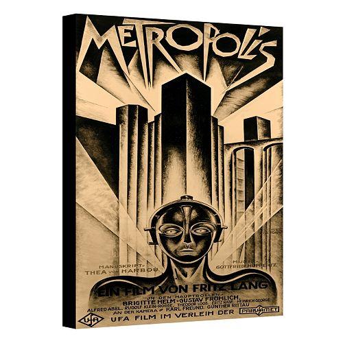 32'' x 24'' ''Metropolis'' Movie Poster Canvas Wall Art