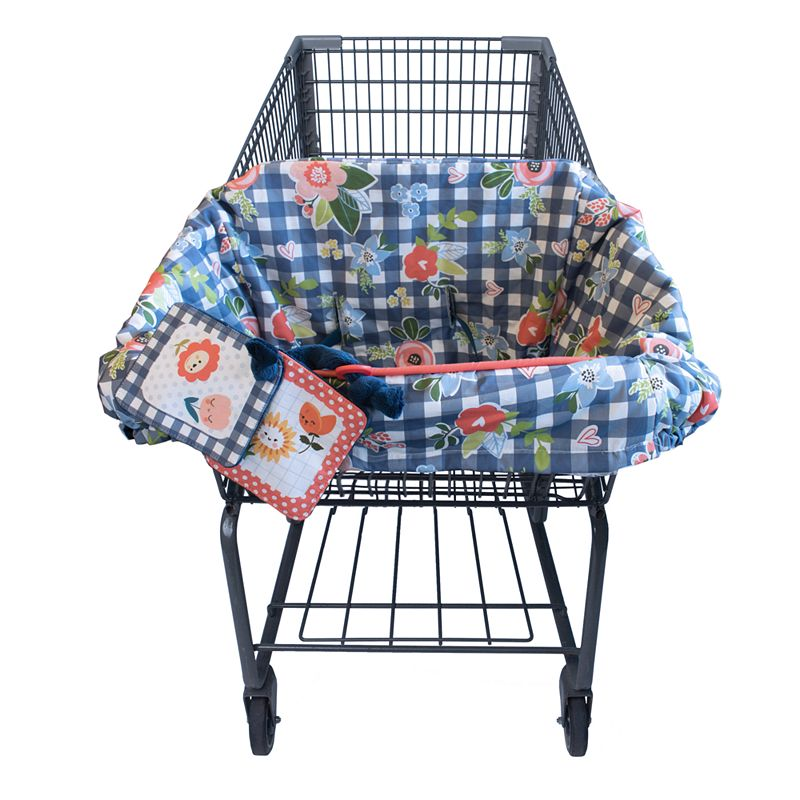 Boppy Shopping Cart Cover, Multicolor Keep baby safe from germs with this Boppy shopping cart cover. : SideLine system keeps toys off the ground Included plush crinkle toy Integrated safety strap Can also be used in restaurant high chairs : Polyester Machine wash Size: One Size. Color: Multicolor. Gender: Female.