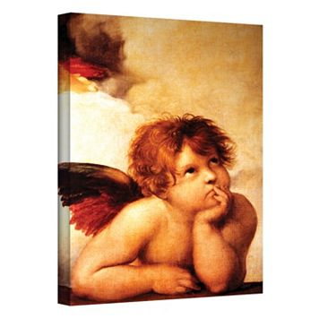 32'' x 24'' ''Cherub'' Canvas Wall Art by Raphael