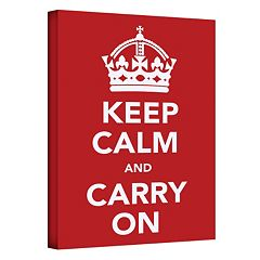 24'' x 18'' ''Keep Calm and Carry On'' Canvas Wall Art