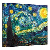 24'' x 36'' ''Starry Night'' Canvas Wall Art by Vincent van Gogh