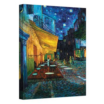 18'' x 14'' ''The Cafe Terrace on The Place Du Forum'' Canvas Wall Art by Vincent van Gogh