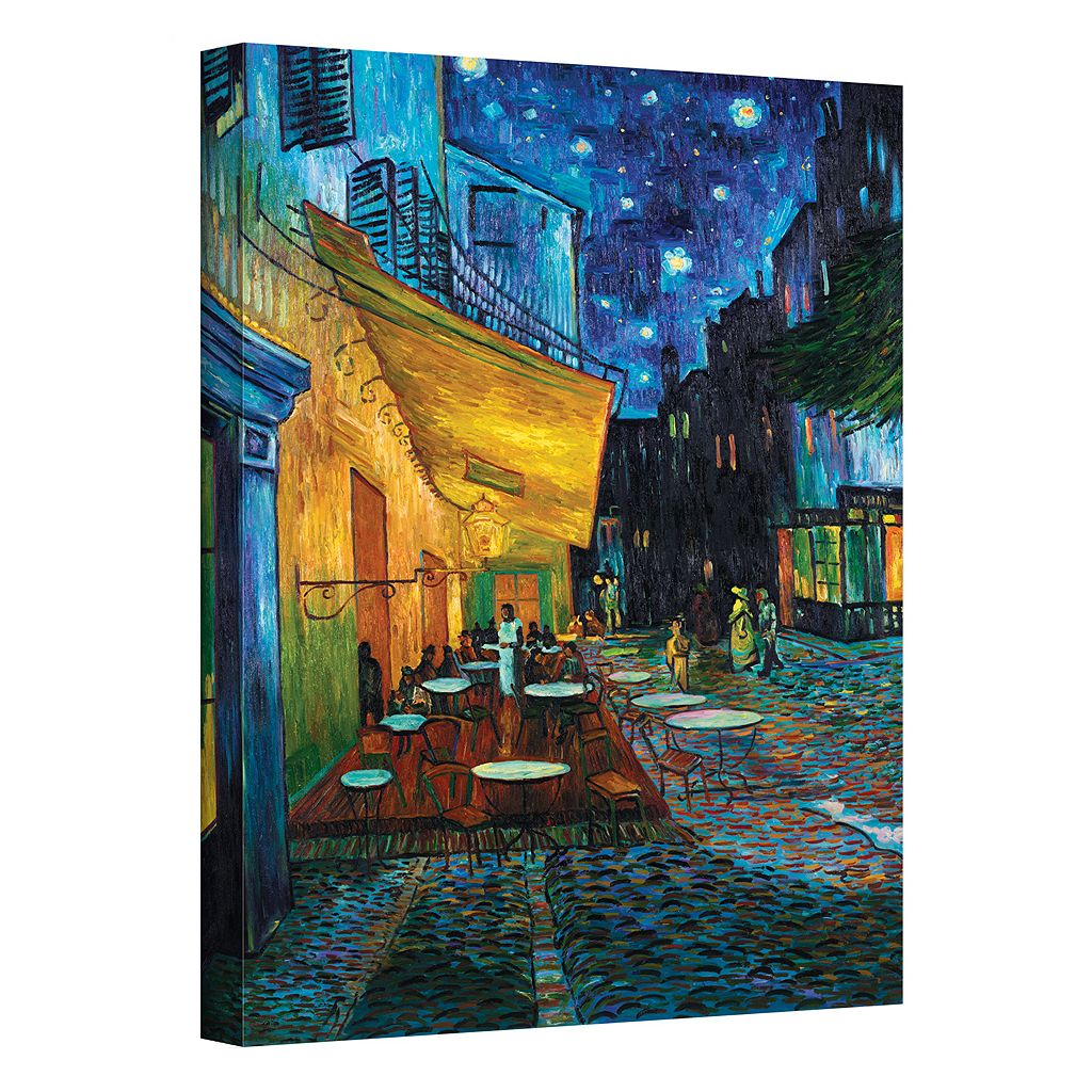 24'' x 18'' ''The Cafe Terrace on The Place Du Forum'' Canvas Wall Art by Vincent van Gogh
