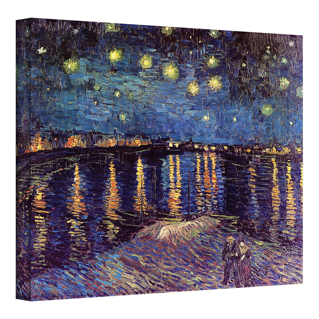 14'' x 18'' ''Starry Night Over the Rhone'' Canvas Wall Art by Vincent van Gogh