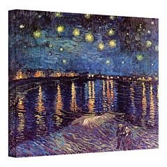 36'' x 48'' ''Starry Night Over the Rhone'' Canvas Wall Art by Vincent van Gogh