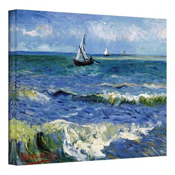 14'' x 18'' ''Seascape at Saintes Maries'' Canvas Wall Art by Vincent van Gogh