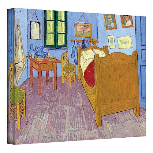 18'' x 24'' ''The Bedroom'' Canvas Wall Art by Vincent van Gogh