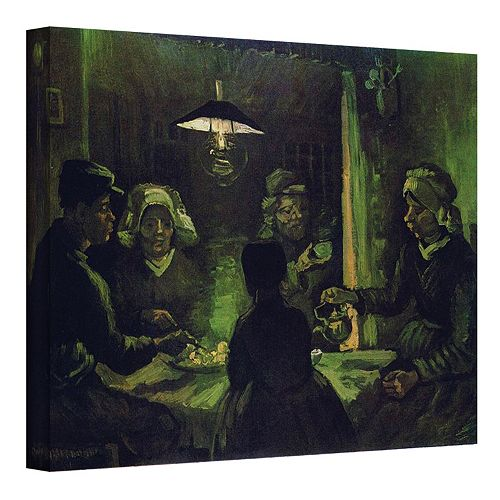 36'' x 48'' ''The Potato Eaters'' Canvas Wall Art by Vincent van Gogh