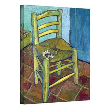 24'' x 18'' ''Vincent's Chair'' Canvas Wall Art by Vincent van Gogh