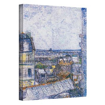48'' x 36'' ''Paris from Vincent's Room'' Canvas Wall Art by Vincent van Gogh