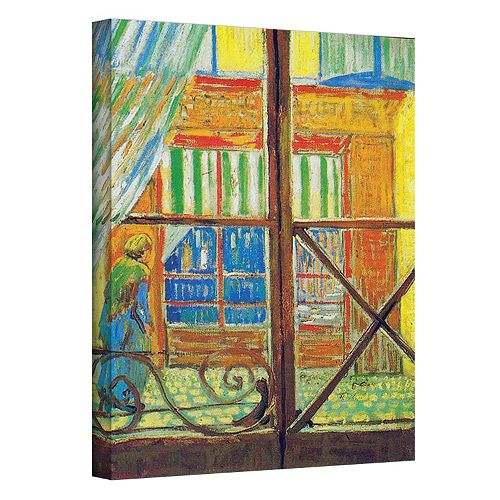24'' x 18'' ''Pork-Butcher's Shop Through The Window'' Canvas Wall Art by Vincent van Gogh