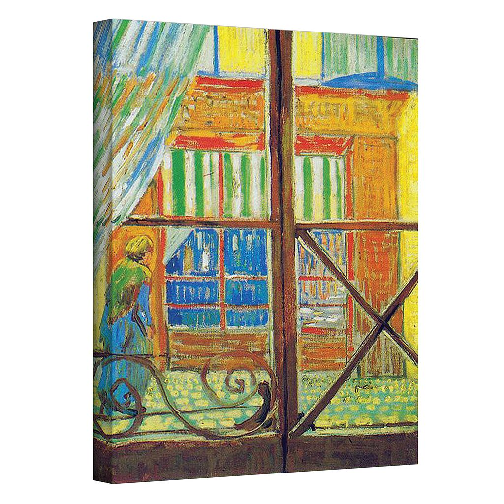 32'' x 24'' ''Pork-Butcher's Shop Through The Window'' Canvas Wall Art by Vincent van Gogh
