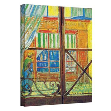 48'' x 36'' ''Pork-Butcher's Shop Through The Window'' Canvas Wall Art by Vincent van Gogh