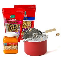 Wabash Valley Farms Whirley Pop 6-qt. Stovetop Popcorn Popper Set