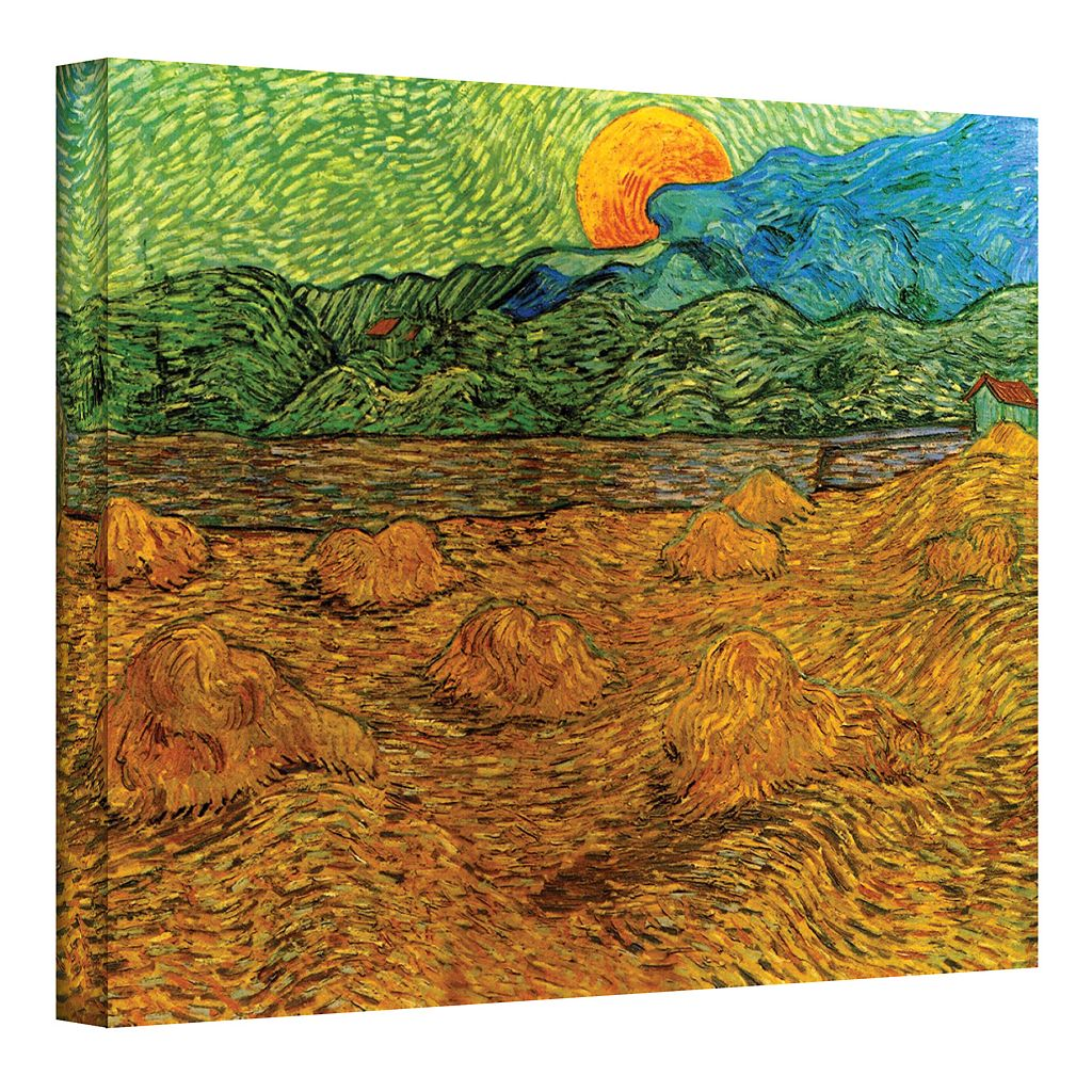 24'' x 32'' ''Evening Landscape with Rising Moon'' Canvas Wall Art by Vincent van Gogh