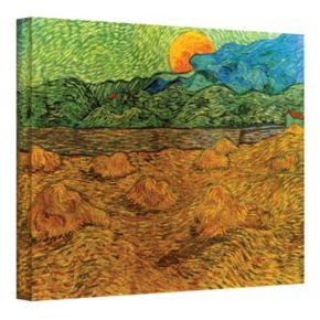 36'' x 48'' ''Evening Landscape with Rising Moon'' Canvas Wall Art by Vincent van Gogh