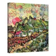 """24'' x 18'' """"Cottages Reminiscent of the North"""" Canvas Wall Art by Vincent van Gogh"""