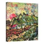 "32'' x 24'' ""Cottages Reminiscent of the North"" Canvas Wall Art by Vincent van Gogh"