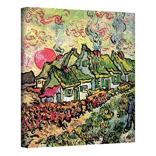 """32'' x 24'' """"Cottages Reminiscent of the North"""" Canvas Wall Art by Vincent van Gogh"""