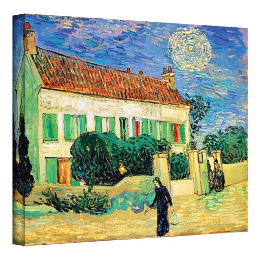 """36'' x 48'' """"The White House at Night"""" Canvas Wall Art by Vincent van Gogh"""