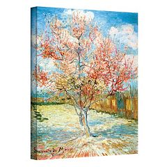 18'' x 14'' 'Peach Tree in Bloom' Canvas Wall Art by Vincent van Gogh