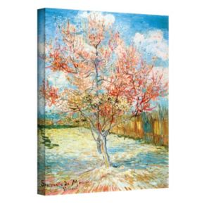 """18'' x 14'' """"Peach Tree in Bloom"""" Canvas Wall Art by Vincent van Gogh"""