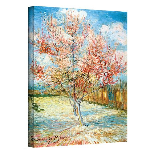 "18'' x 14'' ""Peach Tree in Bloom"" Canvas Wall Art by Vincent van Gogh"