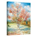 """32'' x 24'' """"Peach Tree in Bloom"""" Canvas Wall Art by Vincent van Gogh"""