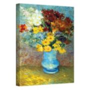 """18'' x 14'' """"Flowers in Blue Vase"""" Canvas Wall Art by Vincent van Gogh"""