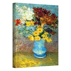 32'' x 24'' 'Flowers in Blue Vase' Canvas Wall Art by Vincent van Gogh